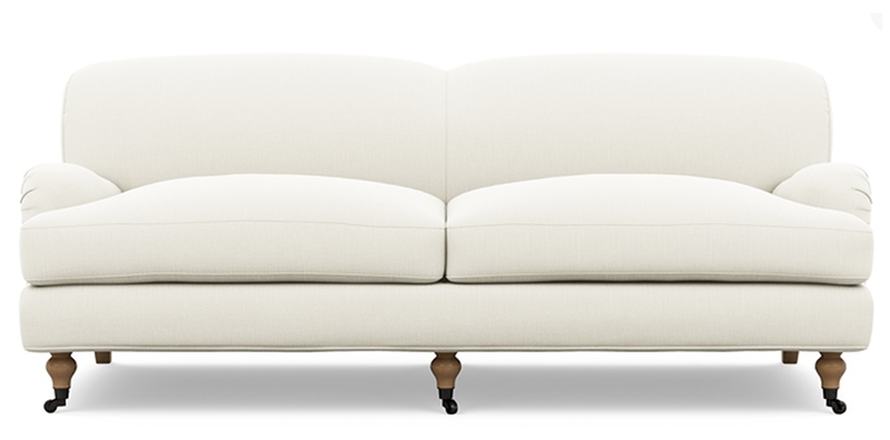 The traditional English roll arm has been my favorite style for as long as  I can remember. It's elegant but comfortable, no back cushions for people  (or ...