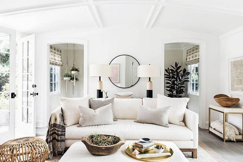 Wood Frame Classic Sofa