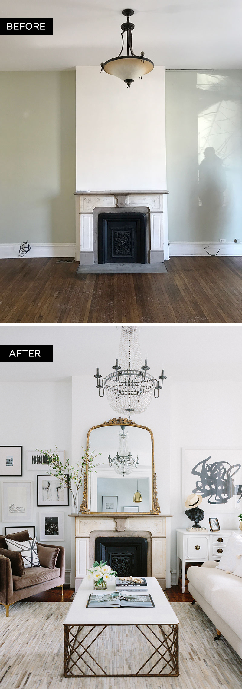 BEFORE/AFTER. SHOP OUR LIVING ROOM Part 76