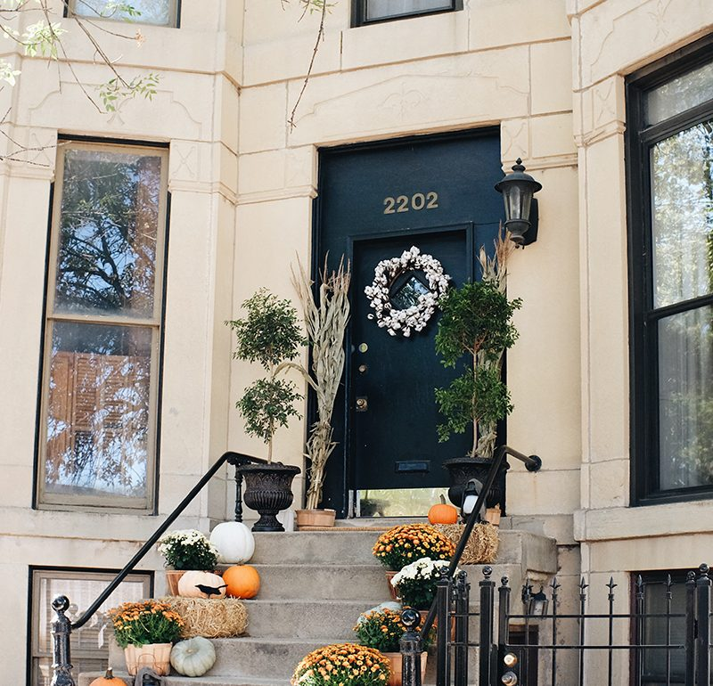Our Fall Front Stoop Makeover