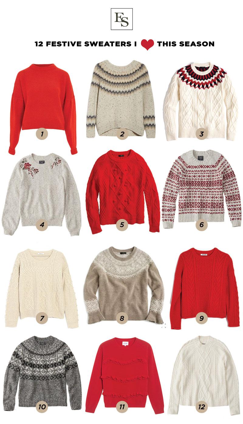 12 Festive Holiday Sweaters I Love This Season – The Elizabeth ...