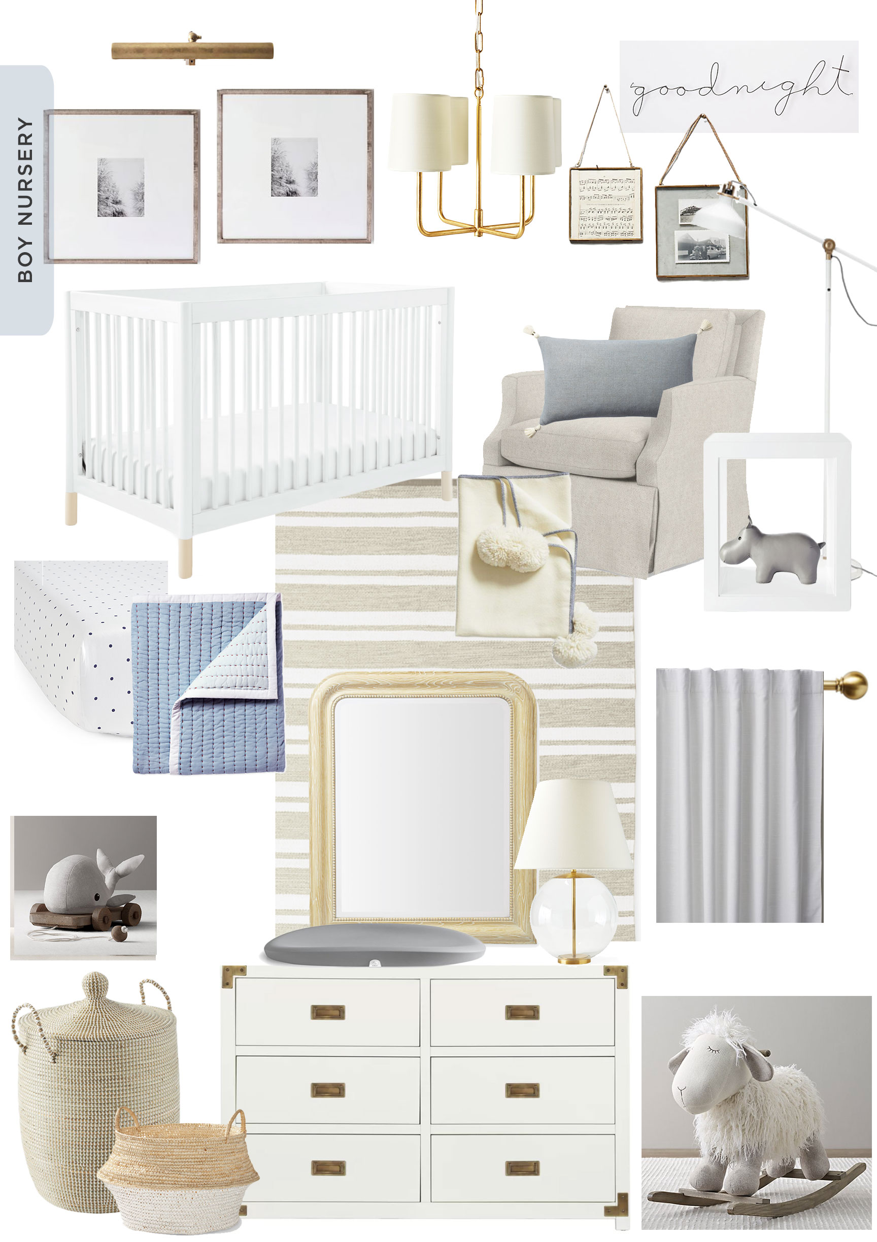 And Add In Blushy Hues For A Traditional Girl Nursery