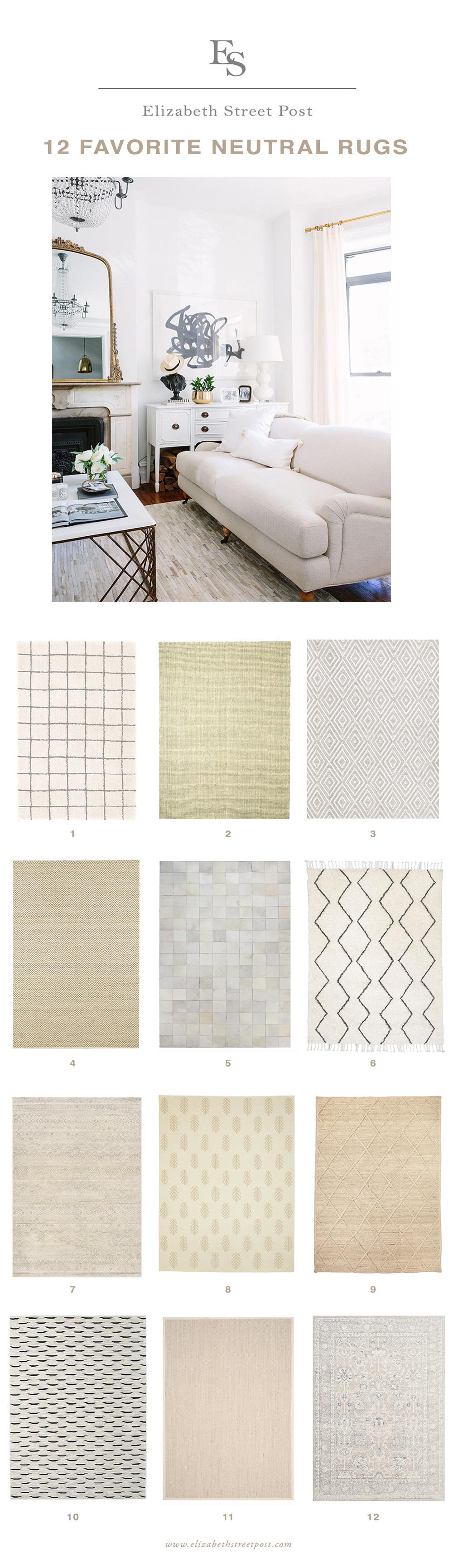 my 12 favorite failproof area rugs – elizabeth street post Best Neutral Rugs